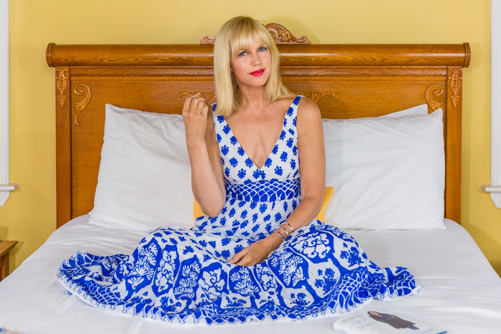CatherineGraceO Sitting Essex Street Inn Bed