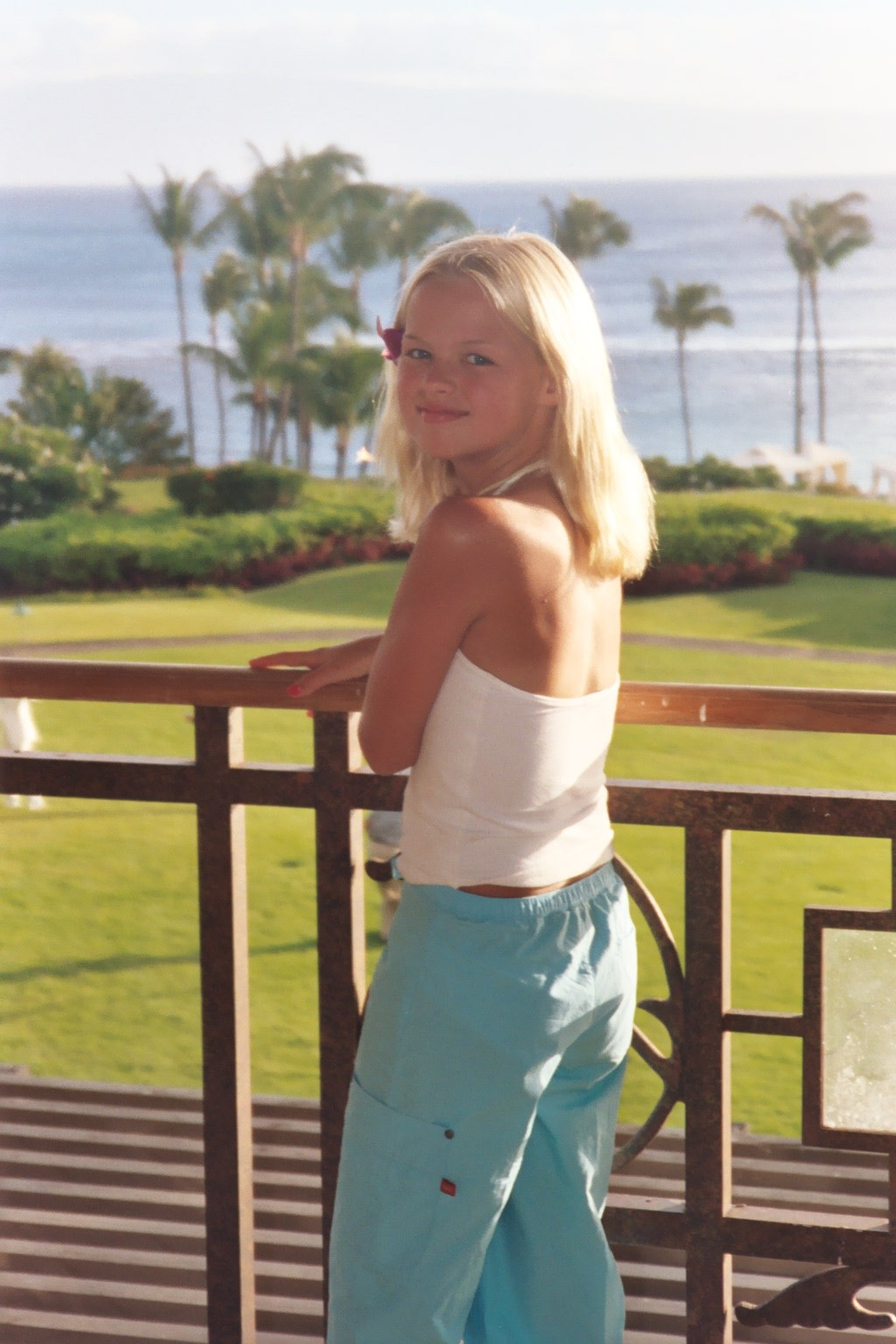 Maddie in Hawaii as a child