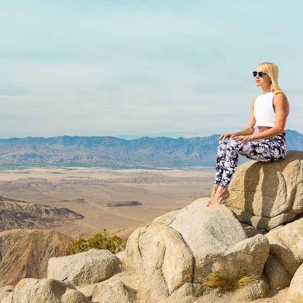 Peaceful view at Keys View in Joshua Tree National Park