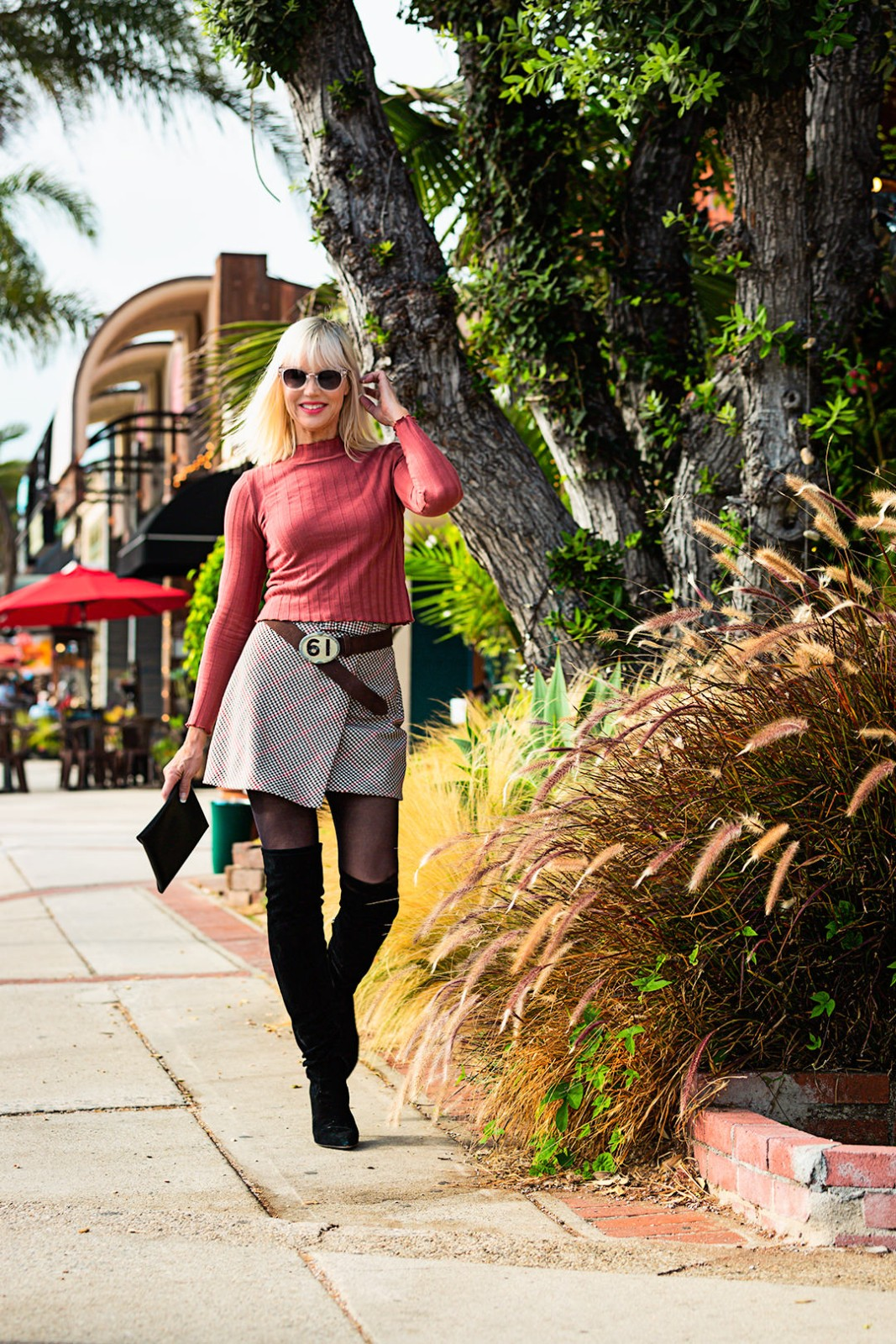 Catherine walking in Redondo Beach