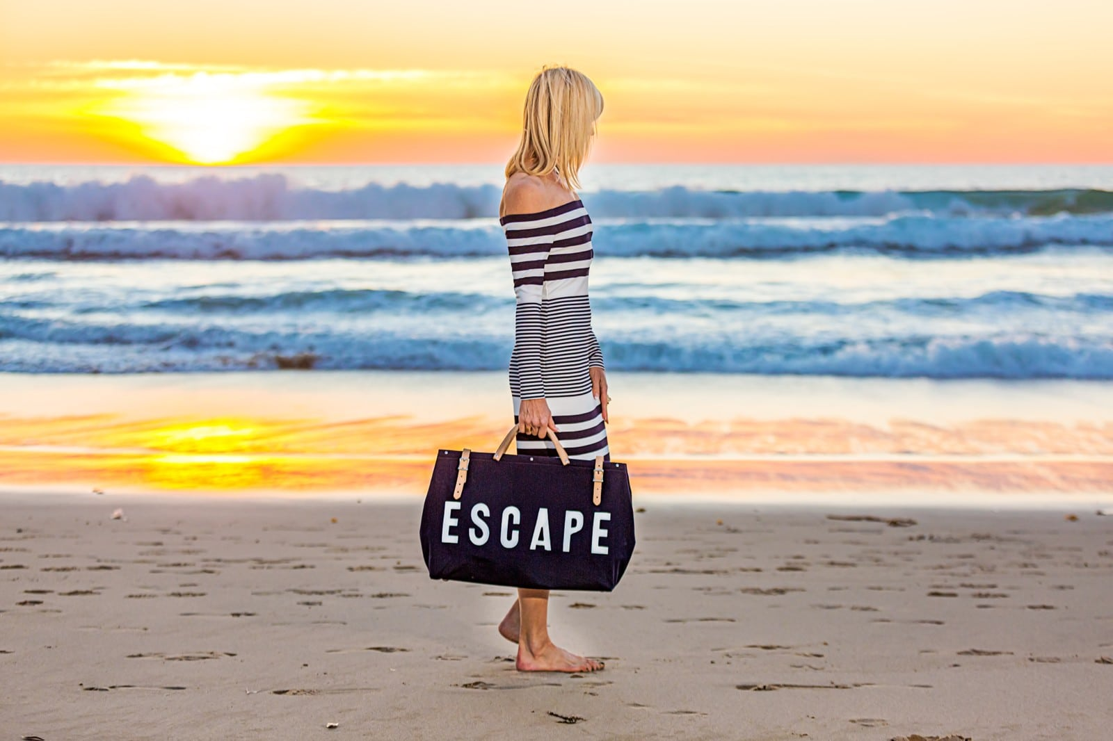 Walking on the Beach to Escape
