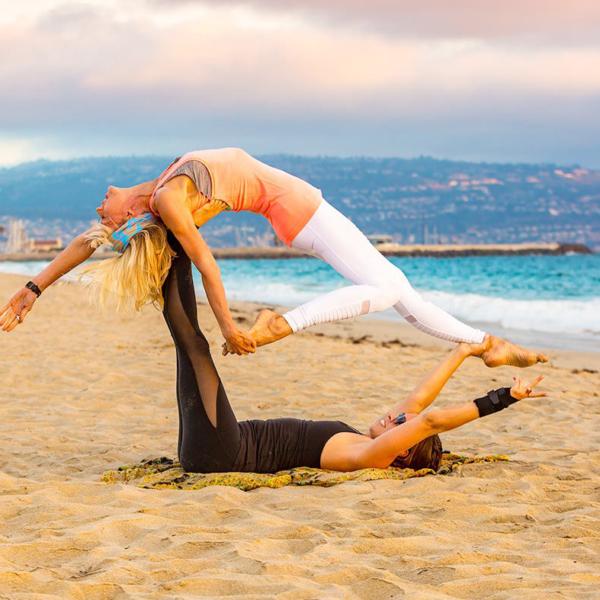 Catherine and Amanda in Balance