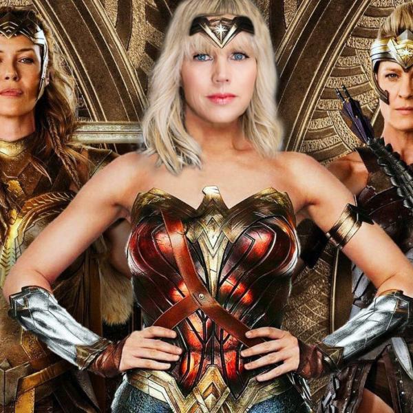 Catherine as Wonder Woman